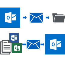 email management outlook integration icon